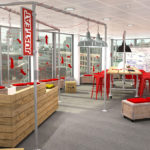 A pop up office design for Just Eat